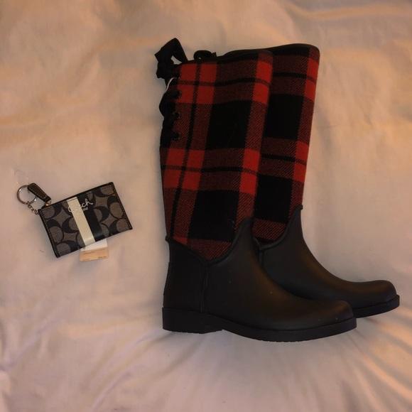 Coach Size 8 Rain boots